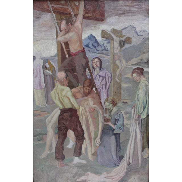 Vintage Oil Painting, Descent From the Cross - Image 3 of 5