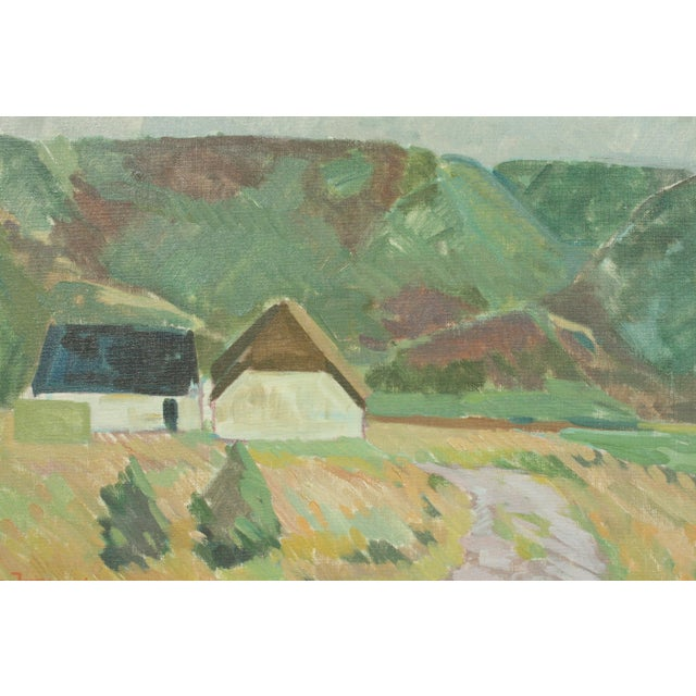 Expressionism Village by Per Iversen For Sale - Image 3 of 6