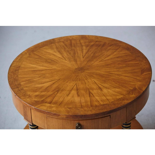 Empire Style Walnut Side Table by Baker Furniture For Sale - Image 9 of 11