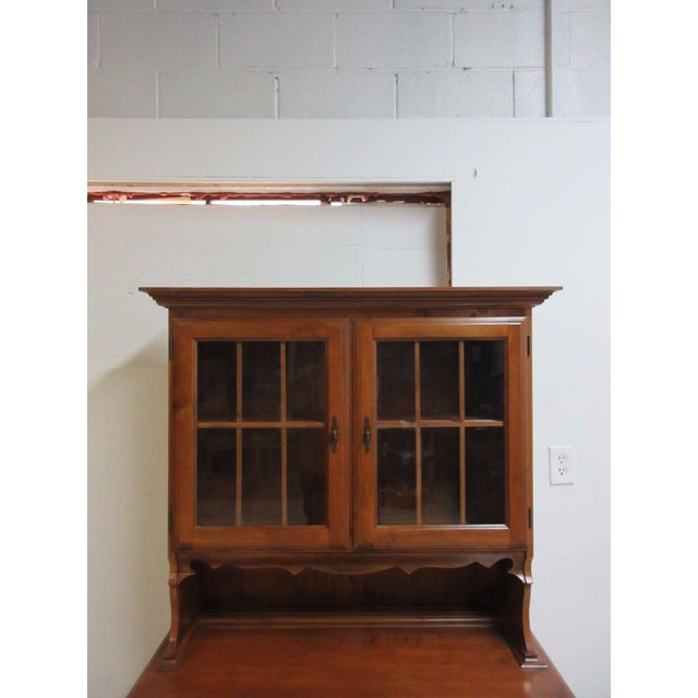 Vintage Maple Chippendale Carved China Cabinet For Sale - Image 5 of 11