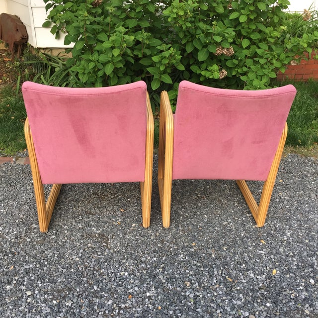 Gabriella Crespi Gabriella Crespi Style Pencil Reeded Velvet Chairs - a Pair For Sale - Image 4 of 13
