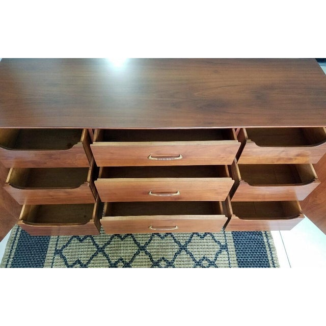 Brown Vintage Walnut Sideboard / Credenza For Sale - Image 8 of 11