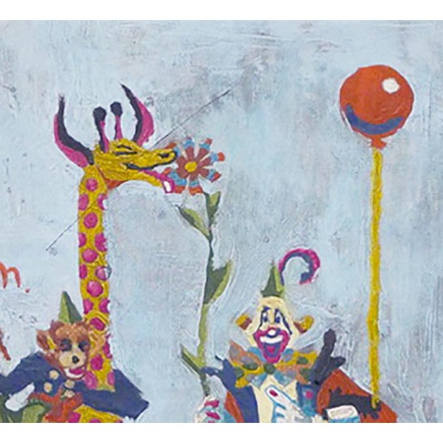 This is a charming painting by a child for his or her parents. There is no signature and has no date. Just a perfect...