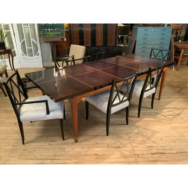 1950s Mahogany Extension Dining Table by Tommi Parzinger for Parzinger Originals For Sale - Image 9 of 13