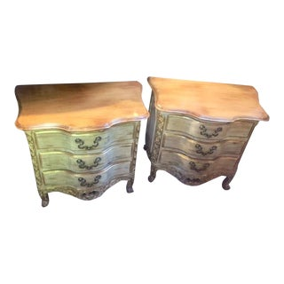 Vintage Three Drawer Night Stands - a Pair For Sale