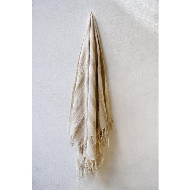 Turkish Hand Made Towel With Natural/Organic Cotton and Fast Drying,37x73 Inches For Sale In New York - Image 6 of 11