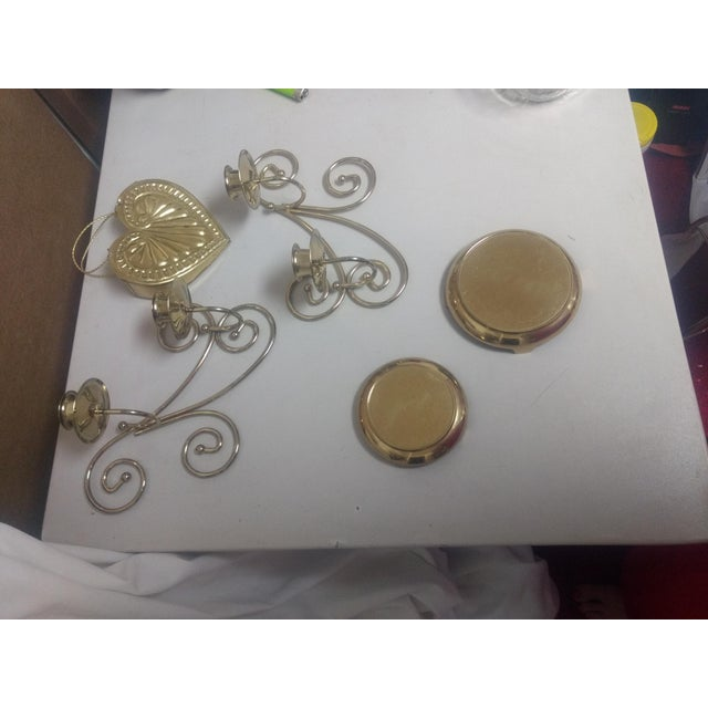 Vintage Brass Decor Set- 5 Pc For Sale - Image 5 of 6