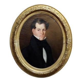 19th Century Portrait of a Young Aristocratic Man-Oil Painting C.1830s For Sale