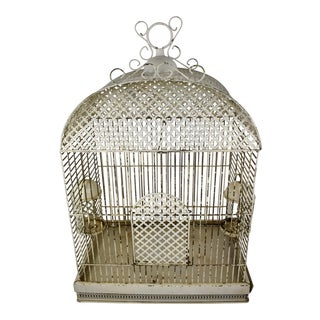 Early 1900s French Belle Époque Tôle Peinte Bird Cage