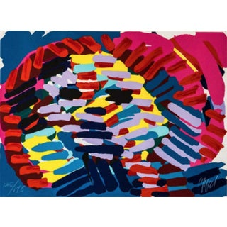 Karel Appel Once I Was the Sun Hand Signed Numbered Lithograph For Sale