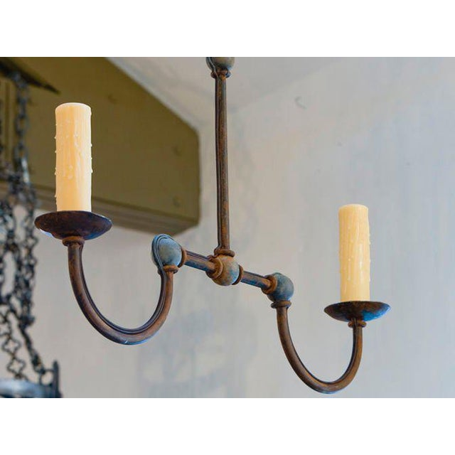 "Not Yet Made - Made To Order Custom Iron ""Marion"" Small Kitchen Island Chandelier For Sale - Image 5 of 7"