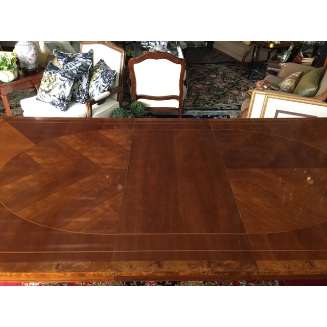 Vintage Baker Walnut Dining Table - Image 6 of 8