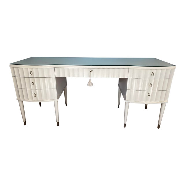 White Lacquer Barbara Barry Ladies Desk For Sale