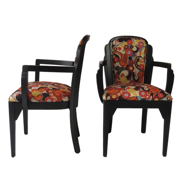 Art Deco Arm Chairs - A Pair - Image 5 of 6
