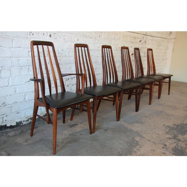 Niels Koefoed for Koefoeds Hornslet Eva Rosewood Dining Chairs- Set of 6 - Image 5 of 11
