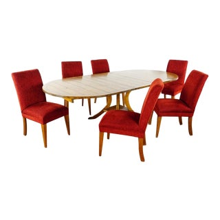 Guy Chaddock & Mitchell Gold for Restoration Hardware Dining Set - 7 Pieces For Sale