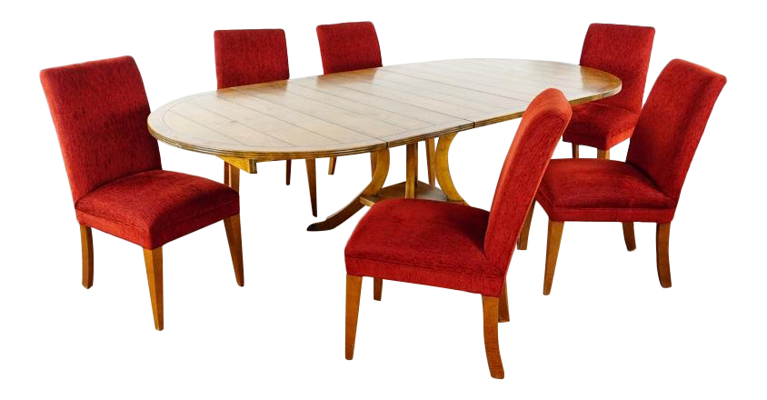 Superbe Guy Chaddock U0026 Mitchell Gold For Restoration Hardware Dining Set   7 Pieces  For Sale