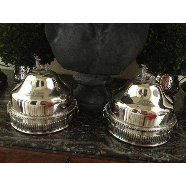 Pair of Silver Sheffield Food Warmers For Sale - Image 4 of 9