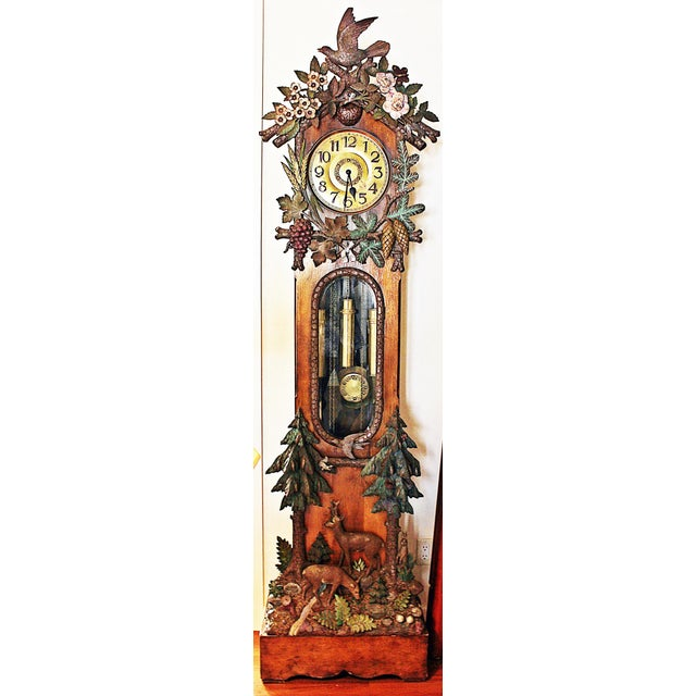 Black Forest Grandfather Tall-Case Clock For Sale - Image 12 of 13