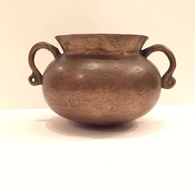 Beautiful solid bronze 16th century drinking vessel. Makers Marks is just barely visible on the inner lip. One letter...