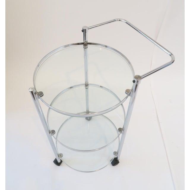 Glass & Chrome Bar Cart - Image 4 of 7