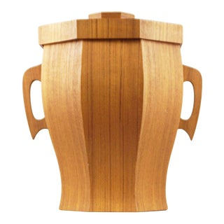 Broadway Imported Housewares Wooden Ice Bucket For Sale