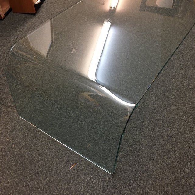 Vintage Waterfall Glass Coffee Table - Image 4 of 7