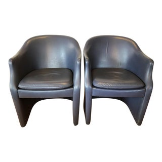 1970s Nicos Zographos Modern Club Lounge Chairs – a Pair