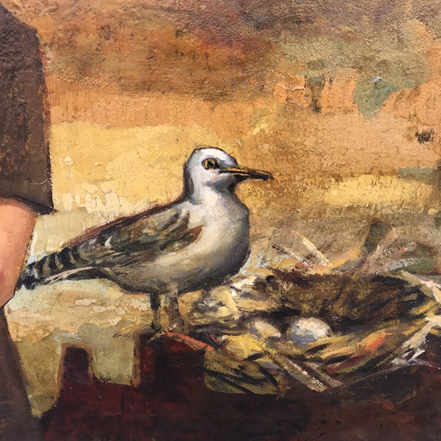 1960s The Nesting Gull, Oil on Board For Sale - Image 5 of 12
