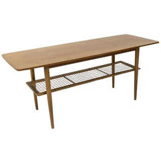 1950s Vintage Danish Mid-Century Modern Teak Coffee Table For Sale