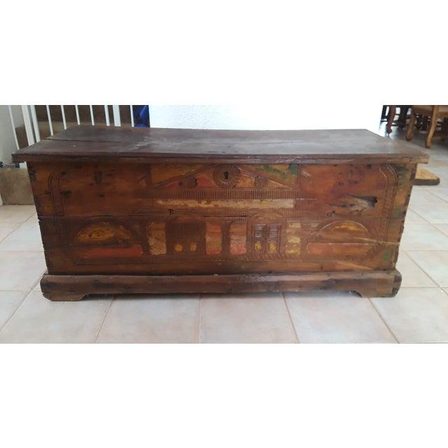 1980s Javanese Teak Wood Chest For Sale - Image 13 of 13