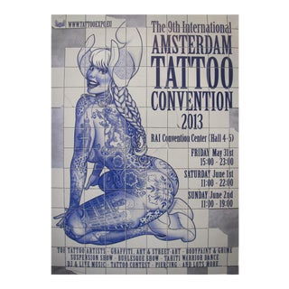 2013 Contemporary Dutch Poster, Amsterdam International Tattoo Convention - Vince For Sale