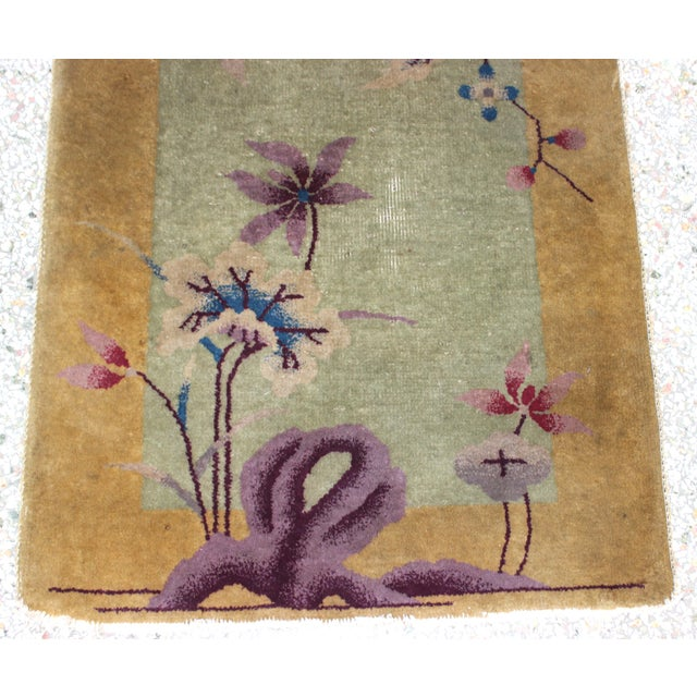 1920s Antique 1924 Nichols Wool Rug Tientsin North China Flowers Motif For Sale - Image 5 of 10