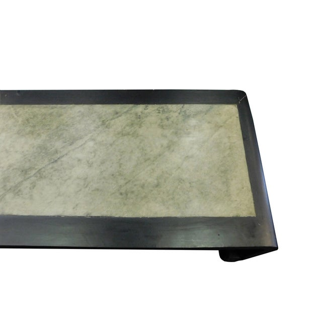 Black Scroll Legs Rectangular Marble Coffee Table - Image 5 of 9