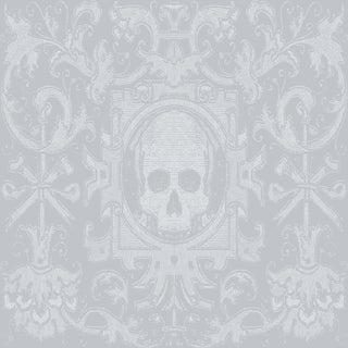 Mitchell Black Home Skull Box Gray Prepasted Wallpaper For Sale