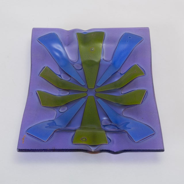 Mid Century Modern Glass Ashtray by Higgins For Sale - Image 9 of 13