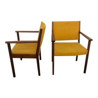 Mid-Century Teak Arm Chairs by Johnson Chair Co. - A Pair For Sale