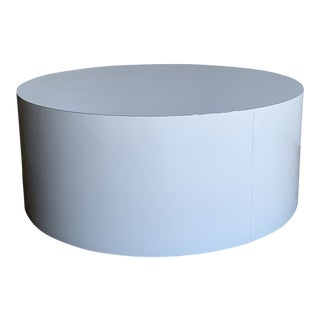 1980s Laminate Drum Coffee Table For Sale