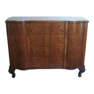 French Art Deco Chest of Drawers Dresser Burlwood For Sale