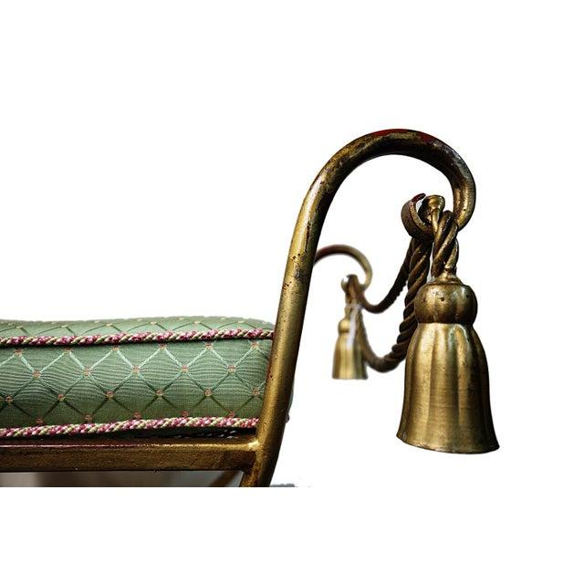 Vintage Italian Rope & Tassel Footstool - Image 3 of 4