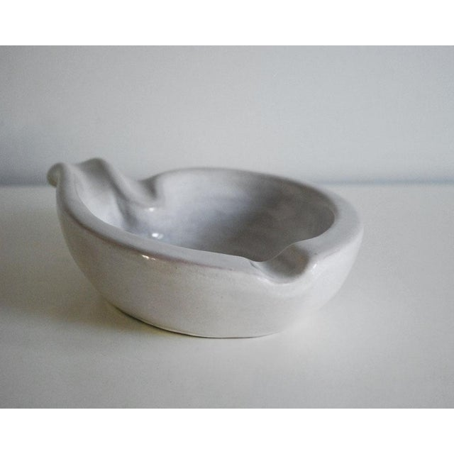 Mid-Century Modern Gray Redware Pottery Ashtray For Sale - Image 4 of 6