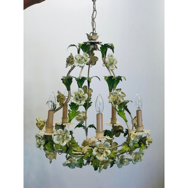 Imported from Italy, this 1940's Italian chandelier has been hanging in grandma's home in Los Angeles, Ca for over 50...