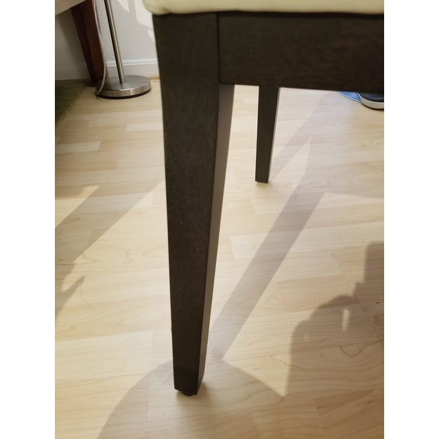 West Elm West Elm Curved Leather Dining Chair For Sale - Image 4 of 6
