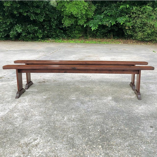 French 9th Century French Cherrywood Farm Table With Pair Benches For Sale - Image 3 of 13