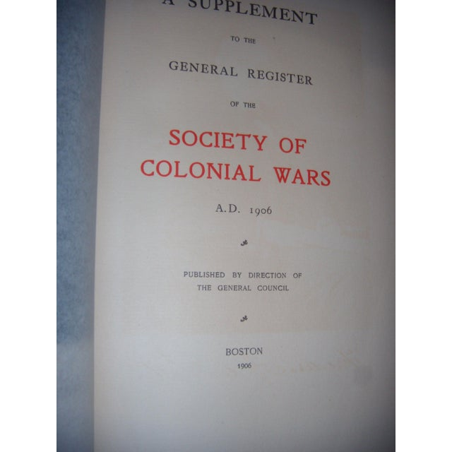 Antique 1896 - 1927 Society of Colonial Wars Books - S/9 - Image 10 of 11