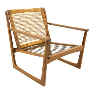 Vintage Mid Century Juul Kristensen Sled Occasional Lounge Chair For Sale