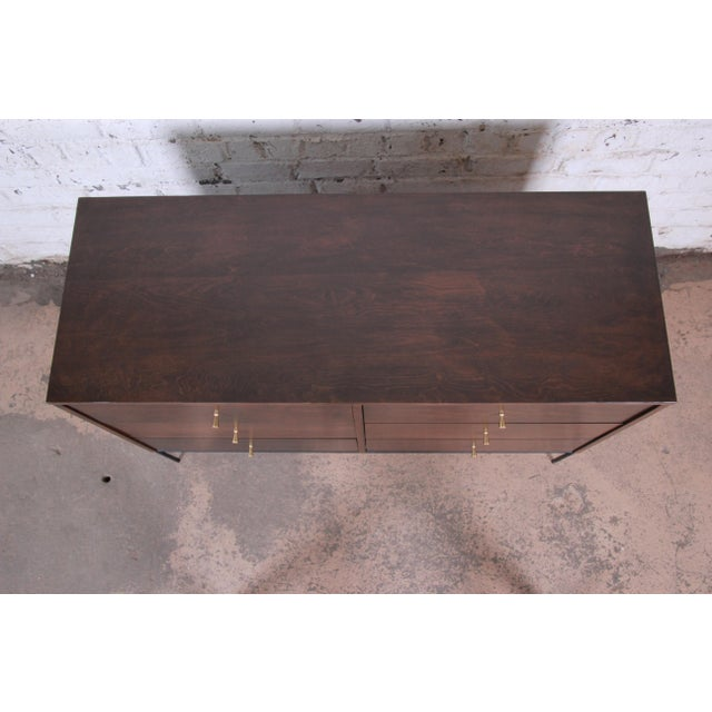 1950s Paul McCobb Planner Group Iron Base Six-Drawer Dresser or Credenza For Sale - Image 5 of 11