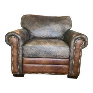 Brown Soft Leather Chair For Sale