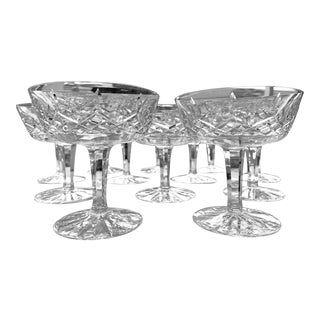 1950s Waterford Crystal Lismore Champagne/Tall Sherbert Glasses - Set of 12 For Sale