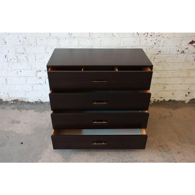 Harvey Probber Mid-Century Modern Dark Mahogany Gentleman's Chest For Sale In South Bend - Image 6 of 10